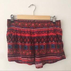 La Hearts Tribal Festival Flounce Shorts